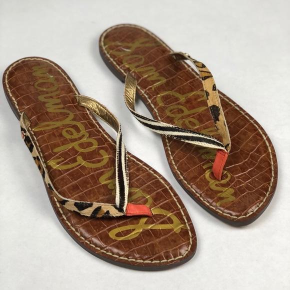 5ffbab490cef NEW Sam Edelman Gracie Zebra Leopard Print Sandals
